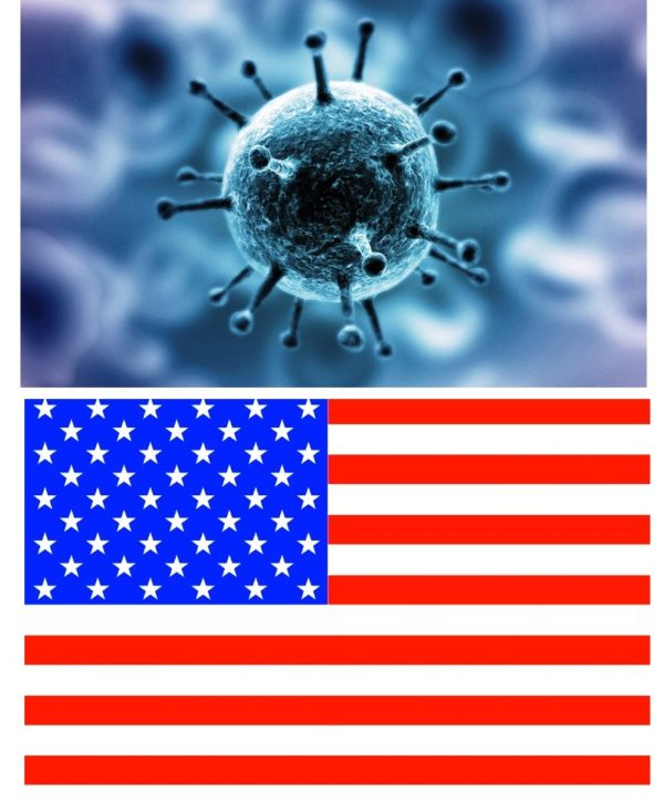Flag USA koronavirus